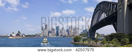 Sydney Harbour showing the Sydney Harbour Bridge and Opera House