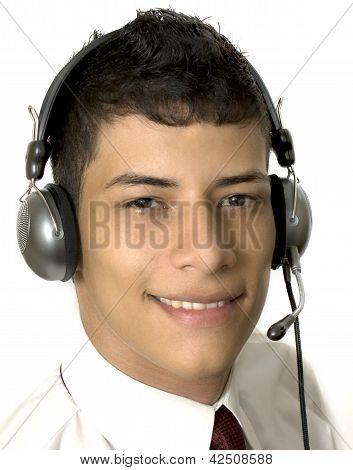 man in a callcenter