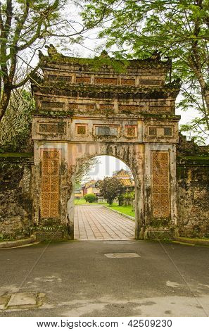 Imperial City (Citadel) in Hue, Vietnam - gate