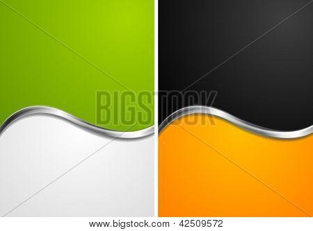 Elegant abstract wavy backgrounds. Vector design eps 10