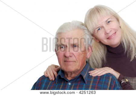 Senior Father With His Daughter