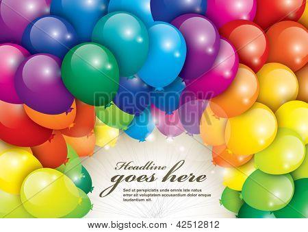 vetor de balões em várias cores