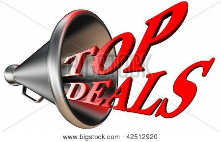 Top Deals Red Word In Megaphone