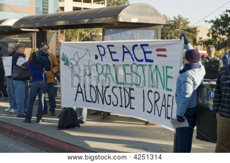 Palestinian-Israeli Conflict Protest Rally In Los Angeles
