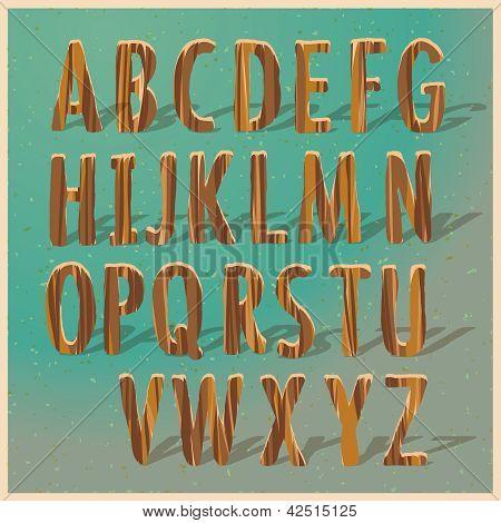 English wooden alphabet