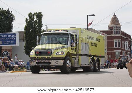 Navarino Lessor Tender 711 Fire Department Truck Front View