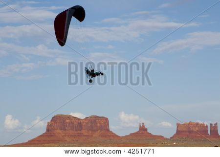 Paragliding Over Monument Valley
