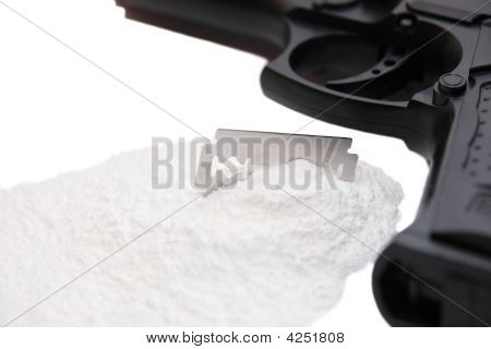 Drugs Blade And Gun