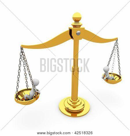 die Goldene Waage der Gerechtigkeit