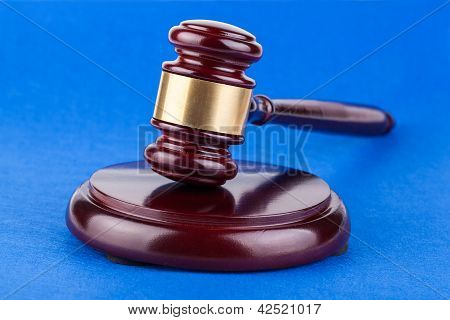 Wooden Brown Judges Gavel