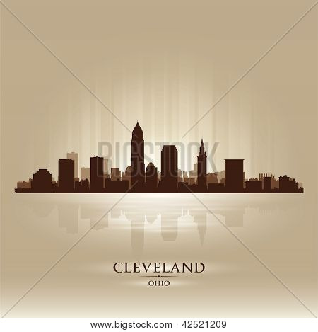 Cleveland Ohio Skyline City Silhouette