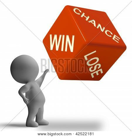 Chance Win Lose Dice Showing Gambling