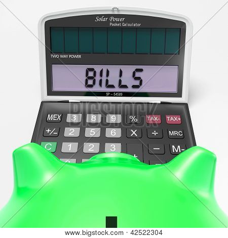 Bills Calculator Shows Invoices Payable And Accounting