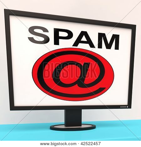 Spam Message Shows Unwanted Electronic Mail Inbox