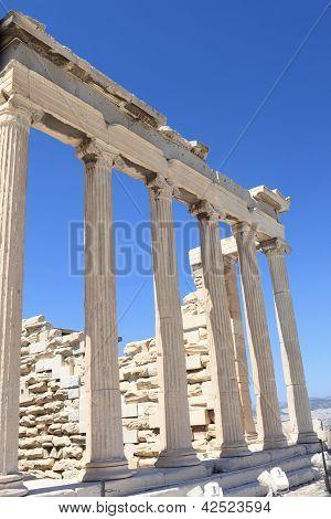 Columns Of Erechtheum Ancient Temple