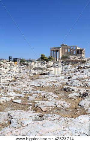 Landscape Of Erechtheum Ancient Greek Temple