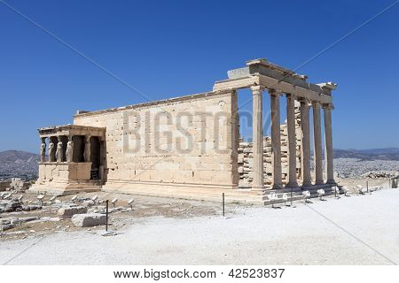 Side Of Erechtheum Ancient Temple