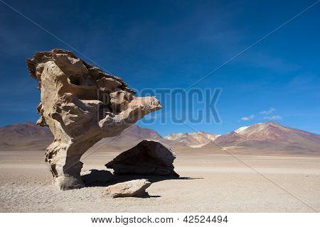 Arbol de Piedra - a árvore de Rock em Uyuni, Bolívia