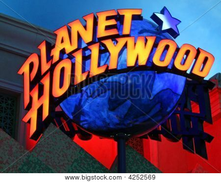 Las Vegas Planet Hollywood-Schild