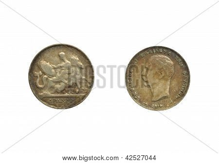 Greek drachma 1910