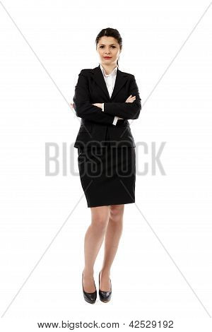 Pretty Young Businesswoman In Full Length Pose