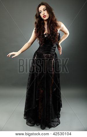 Full Length Of Gothic Doll