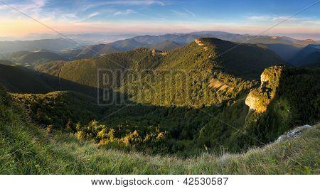 Klak Peak In Sunset - Slovakia Mountain Fatra
