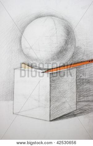 Sketch of rhombus and sphere on it