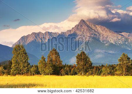 Symbol der Slowakei Berg krivan
