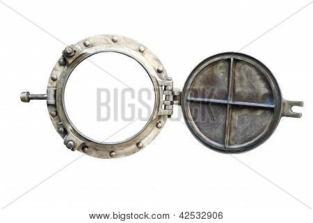 Porthole Isolated On White
