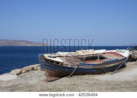 Old Wooden Fisher Boat