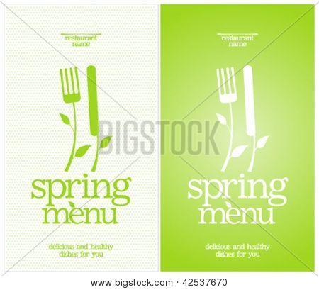 Restaurant Spring Menu Card Design template.