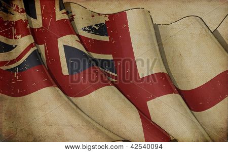 British Naval Flag Old Paper