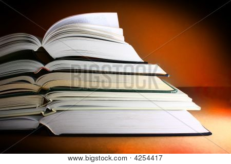 Books Dark Warm Background
