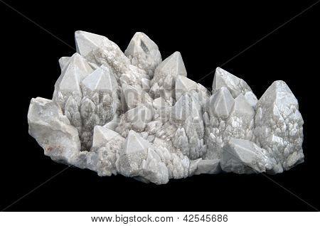 Drusa de cristales de cuarzo