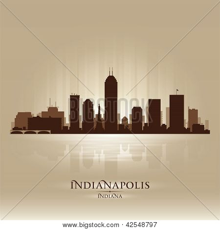 Indianapolis Indiana Skyline City Silhouette