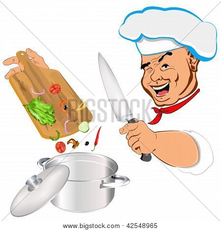 Funny Chef and best food for Gourmet