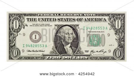 Worthless Dollar Bill