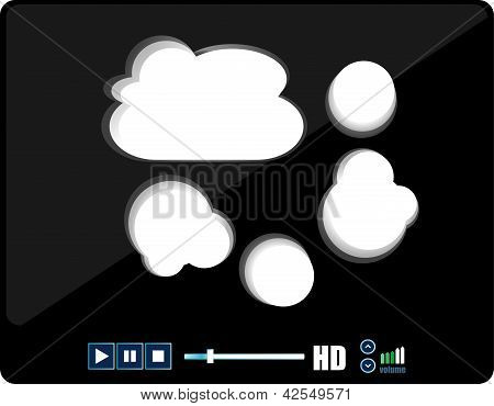 Media Palyer With Abstract Cloud