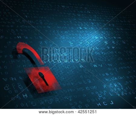 security concept  with a lock