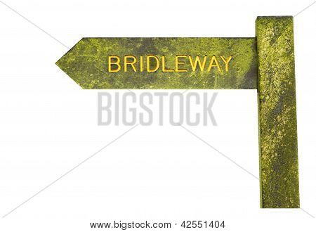 Bridleway Sign Isolated