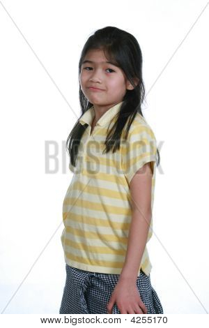 Seven Year Old Girl Standing