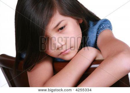 Sad Nine Year Old Girl