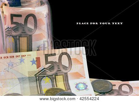 A Few Of  Euro Bank Notes.