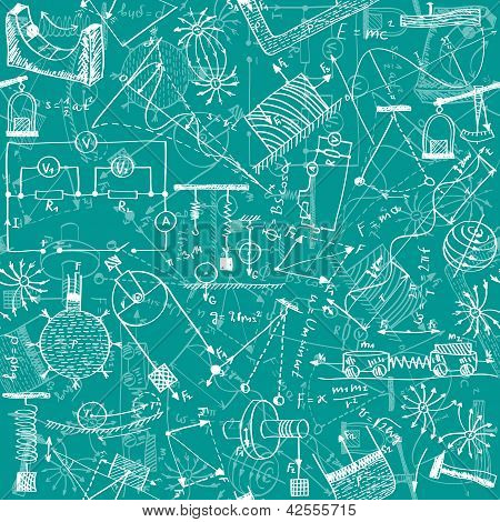 Physics Seamless Pattern