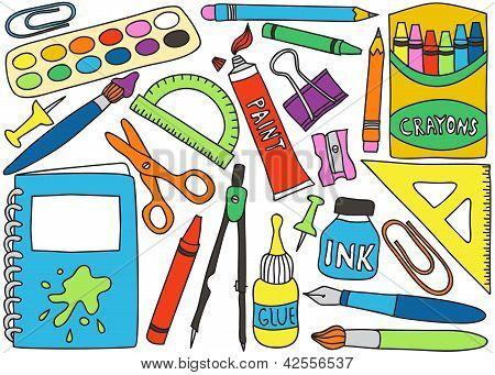 Dibujos de utiles escolares a colores - Imagui