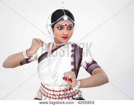 Female Odissi Dancer Of Indian Origin