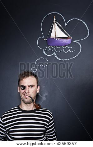 Sailor With A Thought Cloud