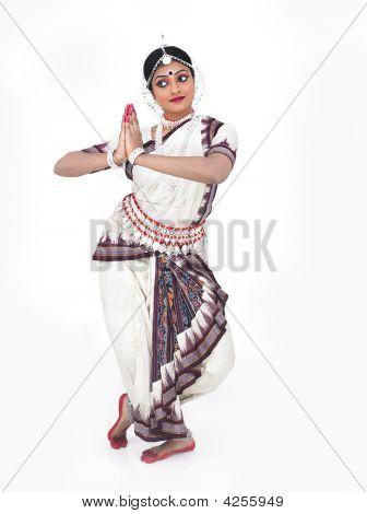 Indian Classical Female Odissi Dancer