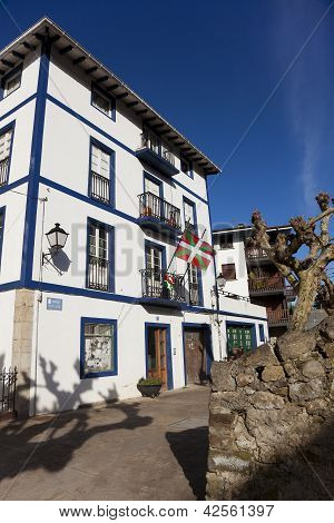 Houses Of Ea, Bizkaia, Basque Country, Spain